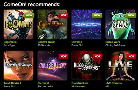 ComeOn Slots Games
