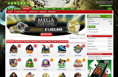Unibet Casino-sajt